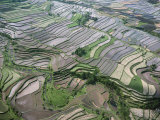 Aerial View of the Eastern Region of the Island of Bali  Indonesia  Southeast Asia