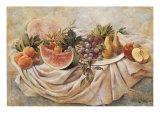 Still Life of Fruit and Melon