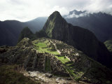 Inca Site  Machu Picchu  Unesco World Heritage Site  Peru  South America