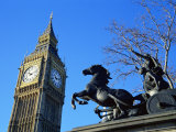 Boadicea (Boudicca) and Big Ben  London  England  United Kingdom