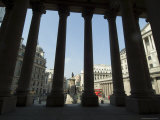 Bank of England Seen from the Steps of the Royal Exchange  City of London  London  England