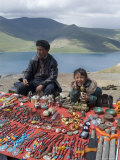 Craft Stand  Turquoise Lake  Tibet  China