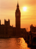 Big Ben and Houses of Parliament  Unesco World Heritage Site  London  England