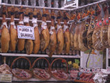 Jamon Shop  Barcelona  Catalonia  Spain