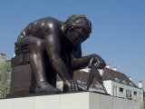 Statue of Newton by Eduardo Paolozzi  the British Library  London  England  United Kingdom