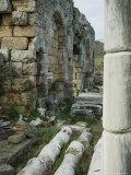 Roman Ruins  Perge  Anatolia  Turkey  Eurasia
