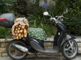 Baguettes on Back on Scooter  Monaco