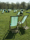 Deck Chairs  Green Park  London  England  United Kingdom