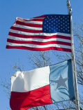 American and Texan Flags  Texas  USA