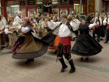 Dancing the Jota During the Fiesta Del Pilar  Zaragoza  Aragon  Spain