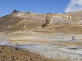 Hot Pools at Namaskard Thermal Area  Hverarond  Near Lake Myvatn  Iceland  Polar Regions