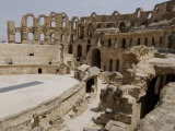 Roman Colosseum  El Jem  Unesco World Heritage Site  Tunisia  North Africa  Africa