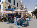 Cafe in Square  Essaouira  Morocco  North Africa  Africa