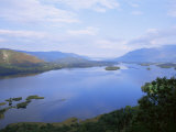 Keswick and Derwent Water from Surprise View  Lake District National Park  Cumbria  England
