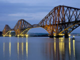 Forth Railway Bridge Over the Firth of Forth  Queensferry Near Edinburgh  Lothian  Scotland  Uk