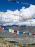 Prayer Flags  Ganden Monastery  Near Lhasa  Tibet  China