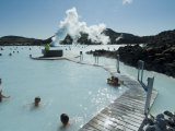 Blue Lagoon (Mineral Baths)  Near Keflavik  Iceland  Polar Regions