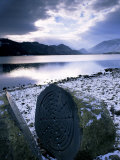 National Trust Centenary Stone  Derwent Water  Lake District  Cumbria  England