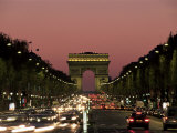 Avenue Des Champs Elysees and the Arc De Triomphe  Paris  France