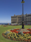 Flower Beds at the Royal Crescent  Seafront  Whitby  North Yorkshire  Yorkshire  England