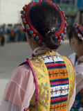 Dancer in Traditional Dress  Gyantse  Tibet  China