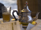 Typical Mint Tea  Cafe Des Negociants  Gueliz (New Town)  Marrakech  Morocco  North Africa  Africa