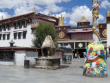 Jokhang Temple  the Most Revered Religious Structure in Tibet  Lhasa  Tibet  China