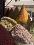 Spice Stall Near Qzadria Square  Marrakech  Morocco  North Africa  Africa