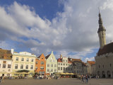 Town Hall in Old Town Square  Old Town  Unesco World Heritage Site  Tallinn  Estonia
