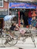 Rickshaw  Thamel Area  Kathmandu  Nepal