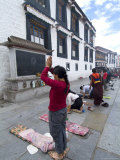 Worshipper  Jokhang Temple  the Most Revered Religious Structure in Tibet  Lhasa  Tibet  China