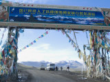 Jia Tsuo La  Entrance to Mount Everest (Qomolangma) National Park  Tibet  China
