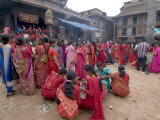 Hindu Festival  Especially for Women  Bhaktapur (Bhadgaun)  Nepal