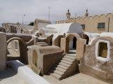 Old Berber Grain Storage Units  Site of Star Wars Film  Now a Hotel  Ksar Hedada  Tunisia