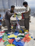 Selling Prayer Flags  Swayambhunath (Monkey Temple)  Kathmandu  Nepal