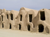 Berber Grain Storage Units  Now a Hotel  Ksar Halouf  Tunisia  North Africa  Africa