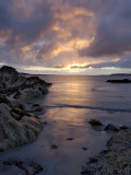 Beach at Sunset  Near Tully Cross  Connemara  County Galway  Connacht  Republic of Ireland