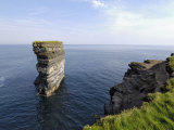Sea Stack at Downpatrick Head  Near Ballycastle  County Mayo  Connacht  Republic of Ireland