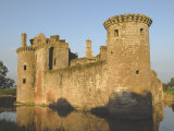 Medieval Stronghold  Caerlaverock Castle Ruin  Dumfries and Galloway  Scotland