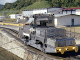 Locomotives Used to Pull Ships Through the Locks  Panama Canal  Panama  Central America