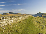 Looking East to Kings Hill and Sewingshields Crag  Hadrians Wall  England