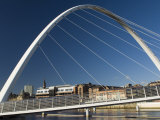 Gateshead Centenary Footbridge  Newcastle Upon Tyne  Tyneside  England  United Kingdom
