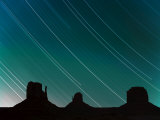 Long Exposure of Star Trails in Night Sky  Arizona Utah Border  USA