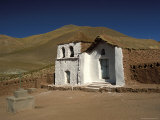 Exterior of a Small Church in Arid Landscape Near Al Tatio Geysers  Atacama Desert  Chile