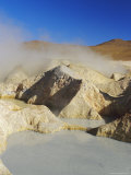 Hot Springs and Mud Pools  Salar De Uyuni  Bolivia  South America