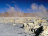 Hot Springs and Mud Pools  Salar De Uyuni  Bolivia  South America
