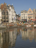 Merchants' Premises by the River  Ghent  Belgium