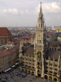Neues Rathaus and Marienplatz  from the Tower of Peterskirche  Munich  Germany