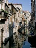 Canal Scene  Venice  Veneto  Italy