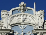 Art Nouveau Architecture  10B Elizabetes Iela  Designed by Mikhail Eisenstein  Riga  Latvia